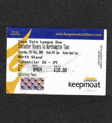 Football match / game ticket Doncaster Rovers v Northampton Town 05/05/07