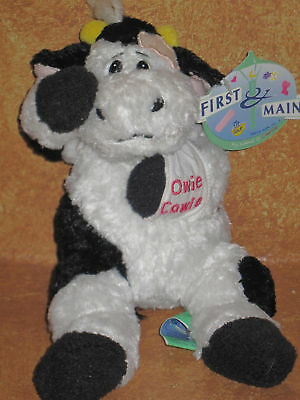 First & Main Stuffed Plush Owie Cowie Cow Holstein Carrie