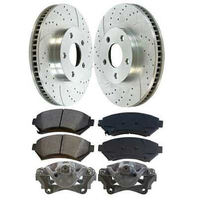 Front Calipers Performance Silver Rotors and Ceramic Pads fits Buick Chev Olds
