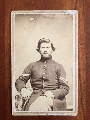 32nd Wisconsin Infantry Co B, Henry SCOFIELD CIVIL WAR Antique Vintage Photo CDV