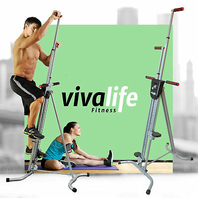 Vertical Climber Cardio Machine Exercise Stepper Workout Fitness Gym Equipment [