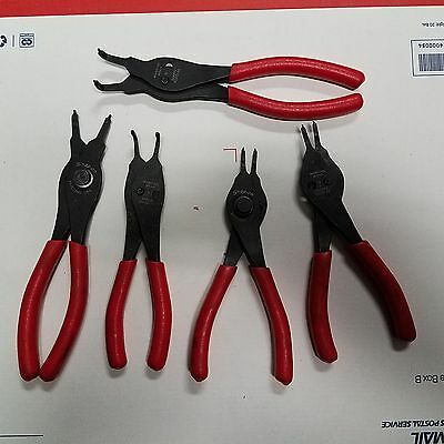 5 Snap-On Brand Snap Ring Pliers SRPC Free Shipping!!!!