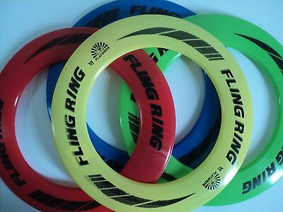 Bright Coloured Flying Frisbee Ring Flyer Summer Play New Pet Outdoor Disc Toys