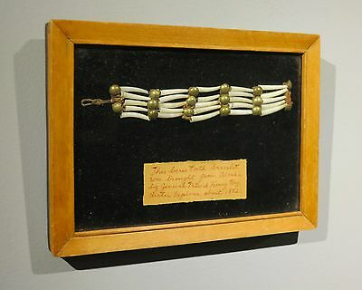 1882 Aluet Inuit Native American bracelet Point Barrow Alaska arctic expedition