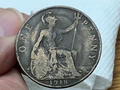 1918 Great Britain English Large Penny Cent-