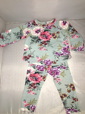 Monsoon 12-18Months Outfit Set With Top And Bottoms Blue Floral Ted Baker Style