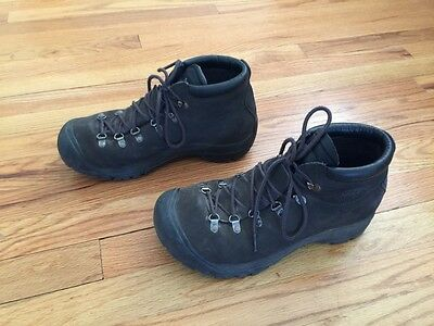 KEEN leather work hiking boots shoes men's 12