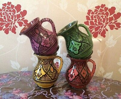 Moroccan handmade Ceramic water/ Milk / Cream/ Sauce Jug Choice of colours
