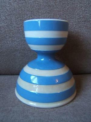 rare T.G.GREEN blue and white DOUBLE EGG CUP striped