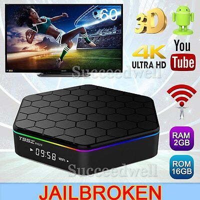 T95Z 4K S912 2+16G Smart TV Box Android6.0 Octa Core Media Player Wifi Bluetooth