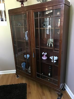 Antique Mahogany Bookcase / Late 1800's / Adjustable Shelves All 100% Original