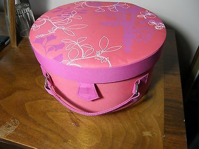Lancome Promotional Wig Small Hat Box Hatbox Eiffel Tower Pink Red Melon