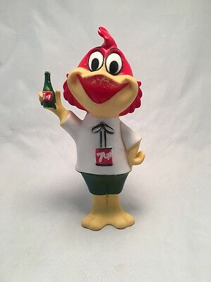 1959 FRESH UP FREDDIE 7UP Soda Mascot Figure Doll Advertising Squeeze Toy G27