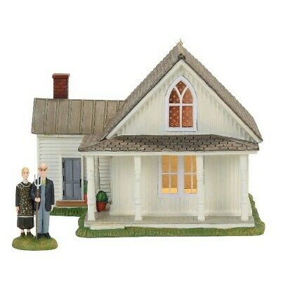 Dept 56 New England American Gothic Farmhouse & Couple #4056684 BRAND NEW