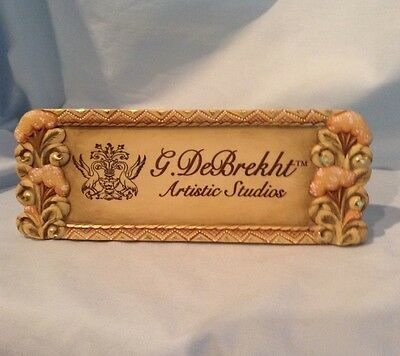 "G. D Brecht Artistic Studio Plaque # 59099-3 with velcro 3"" x 8"" x 3/8"" $9.99"