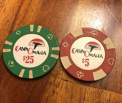 CASINO OMAHA  $25.0 casino chip - Nice Condition
