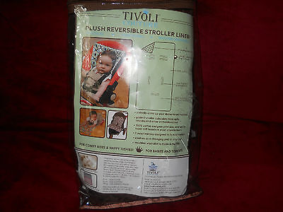 Tivoli Couture Plush Reversible Stroller Liner/Cover Pink and Brown New