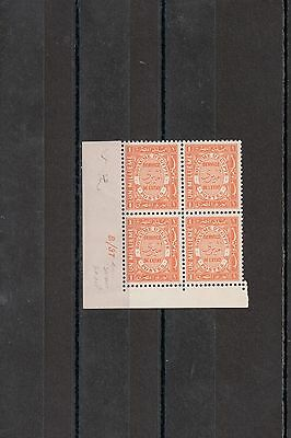 Egypt 1937 Amiry Official Stamps 1m Block Control MNH B/37 (RARE)