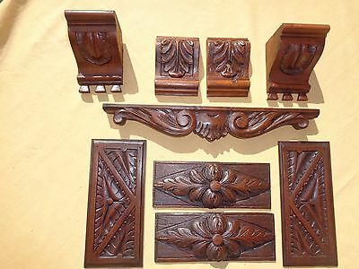 antique french carved wood  architectural pieces