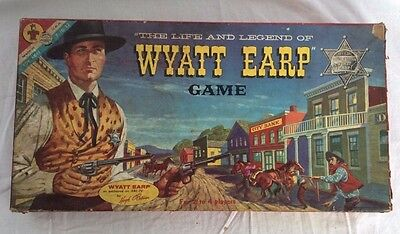 The Life and Legend of Wyatt Earp Vintage Boardgame 100% Complete!