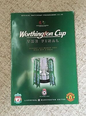Worthington Cup The Final 2003 Liverpool V Man Utd