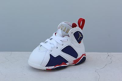 304772-133 Toddlers Jordan 7 VII Retro TD 2016 Olympic Tinker Alternate White