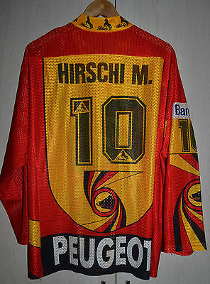 Sc Bern Hockey Match Worn Switzerland Ice Hockey Shirt Jersey Blacky #10 Hirschi