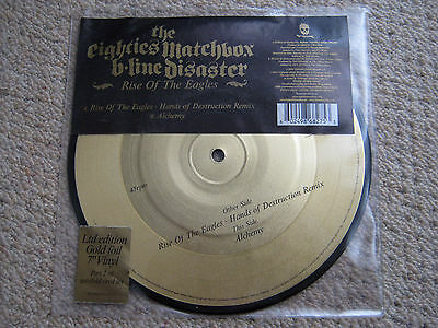 """EIGHTIES MATCHBOX B-LINE DISASTER Rise of the Eagles 7"""" GOLD Single Part 2 EX"""