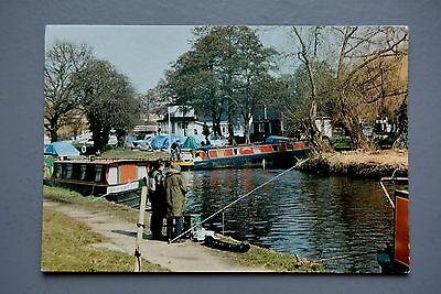 R&L Postcard: Canal Scene Uxbridge, Boats Barges