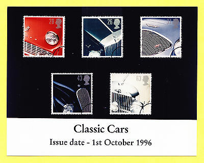 GB Great Britain Classic Cars stamp set issue PHOTO photograph 1996 release