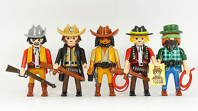 Playmobil Cowboys (4) Western Outlaws ACW Indianer Trapper Indians Robbers