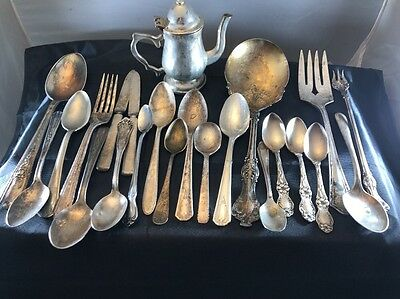 JUNK DRAWER Silver plate Flatware Lot 1847 Rogers Shelton Oneida