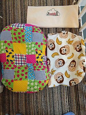 Poddle Pod Plus 2 Covers 0-6 Months Excellent Condition Baby Sleep Nest