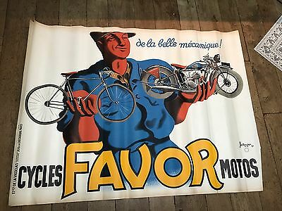 Affiche Cycle Favor Illustré Bellenger 120/160