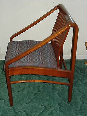 VINTAGE WOOD JASPER SEATING CO WOOD CHAIR MODERN DANISH MID CENTURY 1940's? 50s?