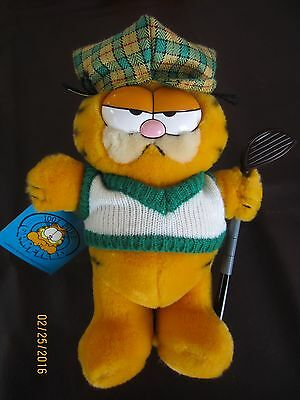 Garfield Golfer Plush         New with Tags              Ships Free
