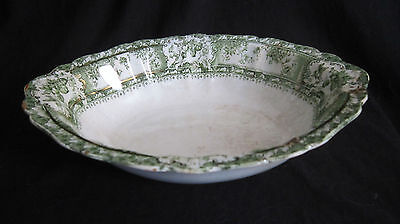 Wedgwood & Co Phoebe Green Open Oval Serving Bowl - 9 in. - England