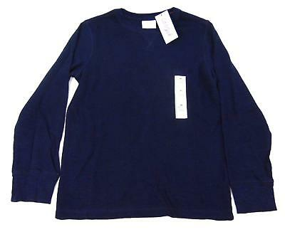 New CAT & JACK Boys Navy Blue Long Sleeve Warm Thermal Knit Sweater Size M