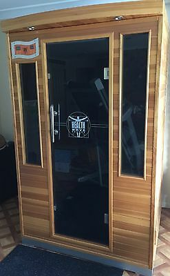 Health Wave 2 Person Infrared Sauna room with Infrared Heaters. Good condition