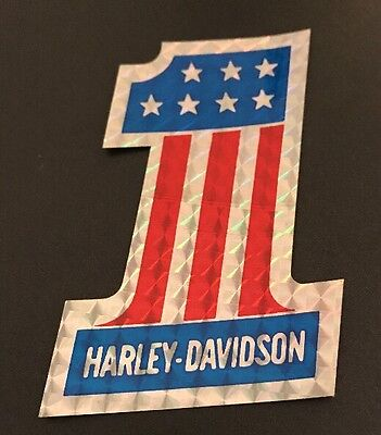 NEW Vintage Harley Davidson #1 Sticker Decal Collectible RARE 3.75 inches