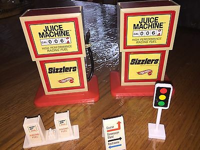 2 Hot Wheels Sizzlers Juice Machine Battery Powered Chargers Plus Extras
