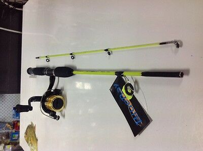 Rod and Reel - Blue Bay Kids Fishing Combo YELLOW 4'