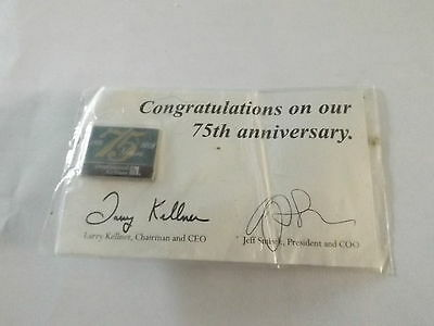 CONTINENTAL AIRLINES 75th ANNIVERSARY pin