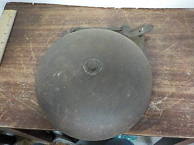"""Vintage iron Reiter Canton O 8"""" Boxing Ring Alarm School Bell Fire Man Cave"""