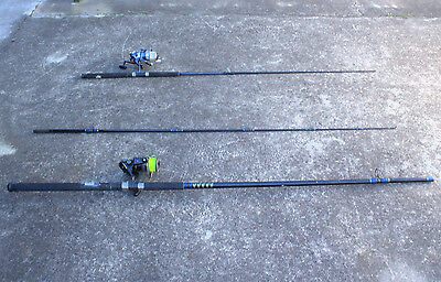 2 x Fishing Rods Reel 12' SHAKESPEARE ProTouch 6' KILWELL Magnum 12kg Beach Pier