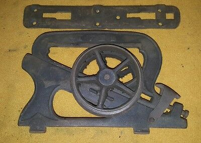 1 Antique Ives Cast Iron Pocket Barn Door Rollers Architectural Hardware c 1886