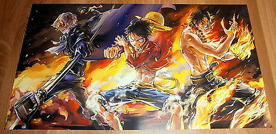Poster 42x24 cm One Piece Lufy, Sabo y Ace