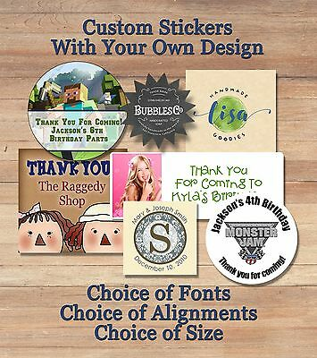 Custom Personalized Wedding Party Favor Treat Bag Stickers ~ Design Your Own