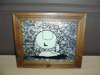 Collectable Framed 'ziggy' Picture Retro  Wall Hanging Cartoon Charactor Rare
