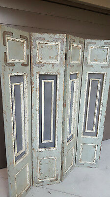Antique FRENCH PROVINCIAL Partition ROOM DIVIDER 4 panels folding screen